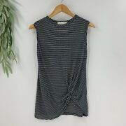 8pm Clothing Made In Italy Womens Linen Blend Tank Top Shirt Size Small S Blue