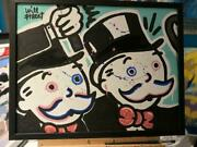 Will Treet Double Monopoly Original Acrylic On Canvas Framed