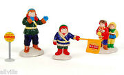 Safety Patrol Retired Dept 56 Set/4 Snow Village Accessory - Lowered The Price
