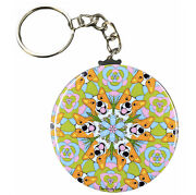Corgi Kaleidoscope Keychain Psychedelic Dog Art Gift And Collectible Accessories