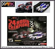 Afx Mega G+ 24 Hour Champions 12 Different Layouts 2 Cars Fits Auto World Tomy