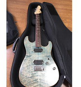 Tand039s Guitars Dst-spider22 Flame Maple Trans Blue Denim Electric Guitar