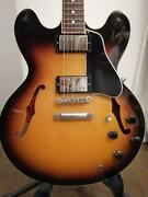 Gibson Es-335 Sunburst Electric Guitar Made In 2007 W/ Hard Case Japan Shipped