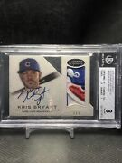 2016 Topps Dynasty Autograph Patches Silver Kris Bryant 2/5 Pop 1