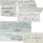 19th C Autograph Collection Inc Queen Charlotte And William Duke Of Clarence X 2