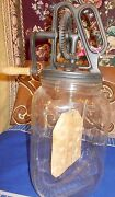 Antique Cast Iron And Glass Dandy Butter Churn- Fully Functional