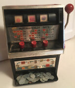 Vintage Waco Toy Slot Machine Bank 1972 Non Working Comes With 44 Token Coins