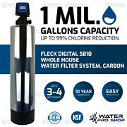Fleck Digital 5810, 1 Mil. Gal. Capacity Whole House Water Filter System, Carbon