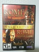 Rome Total War Gold Edition - Pc-dvd-rom - 4 Discs + 2 Manuals - Complete