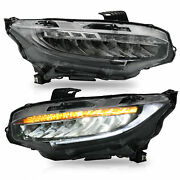 Led Sequential Headlight Left And Right For Honda Civic 2016 2017 2018 2019
