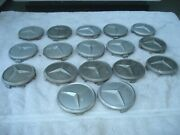 Lot Of 4 Mercedes Wheel Center Caps For 1970s-1980s Cars W/alloy Wheels