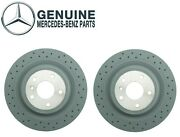 Genuine Set Of 2 Vented Cross Drilled Rear Brake Disc For Mb W166 Ml350 Ml550