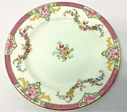 Vintage Rich And Fisher New York City 467 5th Ave Mintons England Floral Plate