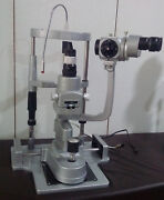 Miko/mzl-3s/3 Step Slit Lamp With Alumiuim Base Manual Table And 110v Power Suppy