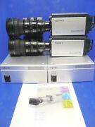 Lot Of 2 Sony Hdc-x310 Hd Cameras With Hfu-x310 And Fujinon S19x6.5bmd Lenses