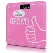 Ndn Line Digital Bathroom Scale Positive Message Pink 2 Health Andamp Personal