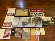 Huge Lot Of Oil Field Well Collectibles Photos Sign Ephemera Stock And More
