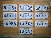 Mississippi Expired Lot Of 10 Guitar Nos License Plates Auto Tag 8au 224