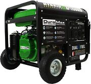 Duromax 11,500-watt Portable Dual Fuel Gas Powered Generator With Electric Start