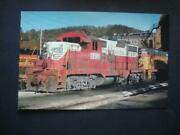 367 Western Maryland Railroadand039s Circus Colored Gp9 Cessie System Postcard