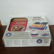 Pyrex Microcore Portables Carrier With 3 Qt Glass Dish Hot And Cold Pack Sf 49ers