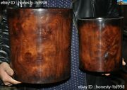 11 Collect Old Chinese Huanghuali Wood Dynasty Palace Ghost Eyes Brush Pot Set