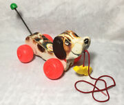 Vintage Fisher Price 1965 Little Snoopy Dog Pull Toy