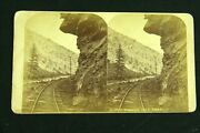 Rare 1870s Stereoview Photo Colorado Central Railroad Hanging Rock Ccrr