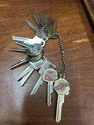 Lot Of 13 Genuine Gm Chrysler Key Blanks 1935 To 1966 Knock Out Chevrolet