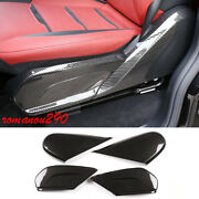 For Benz G550 G63 2019-2020 Carbon Fiber Style Front Seat Side Panels Cover Trim