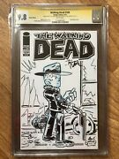 The Walking Dead 109 Blank Variant Sketch And Signature Giarrusso And Moore Cgc 9.8