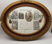Ww2 French Army Pow Brothers Stalag Framed Medals And Photographs - Must See