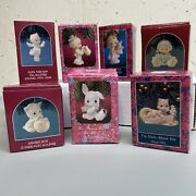 Collectible Precious Moments Christmas Ornaments Lot Of 7 In Original Box