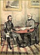 Currier And Ives | Surrender Of Genl Lee At Appomattox C.h. Va. Art Print