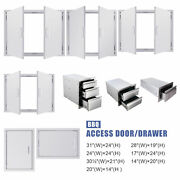 Outdoor Kitchen Cabinet Door Stainless Steel Access Door For Bbq Grills 14and039and03931and039and039