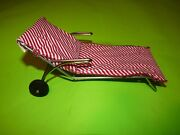 1947 Toy Mid Century Pool Lawn Chair Miniature Playtown Product Nj Ny Rare