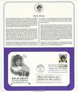 1990 Us First Day Cover 25 Cent Ida B. Wells Stamp February 1 1990 Pcs T
