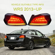 For 2015-2020 Subaru Wrx Blackandwhite Led Sequential Taillight Rear Lamp Assembly