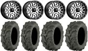 Msa Machined Brute 14 Utv Wheels 27 Mud Lite Xtr Tires Honda Pioneer