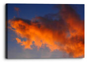 Cloudy Afterglow Sky Orange Red Abstract Canvas Wall Art Picture Home Decoration