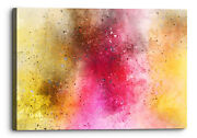 Abstract Orange Pink Background Canvas Wall Art Picture Home Decoration