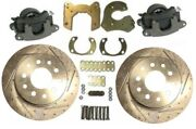 Slotted Bolt On Rear Disc Brake Kit With Gm Metric Brake Calipers For 9 Ford
