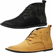 Mens Leather Chelsea Boots Retro Walk Dealer Ankle Smart Casual Work Shoes Size