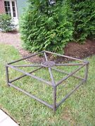 Vintage French Iron Coffee Table French Charleston Medallion Coffee Table Base