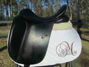 17.5 County Perfection Cc Dressage Saddle-med/wide Tree-wool Flock-2016 Model