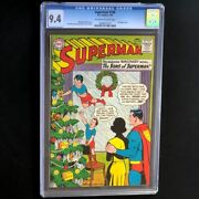 Superman 166 Dc 1964 💥 Cgc 9.4 💥 Only 2 Higher Christmas Cover Rare Comic