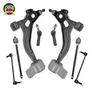 Fits 10-12 Taurus Flex 2 Control Arm With Bushings And Ball Joint Tie Rods 8 Pcs