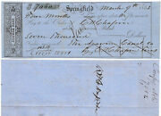 1853 Agawam Canal Co. Scrip U.s. Rep. Chester W. Chapin Signed Scarce