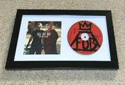 Fall Out Boy Signed Save Rock And Roll Cd Framed Patrick Pete Wentz Joe