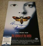 Anthony Hopkins Signed Silence Of Lambs 12x18 Movie Poster Photo Hannibal Bas